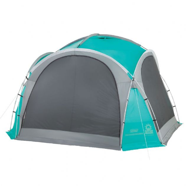 Coleman Event Dome 3.65m with 4 screen walls & 2 Doors, camping & beach shelter - Grasshopper Leisure
